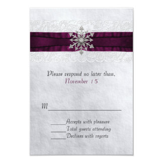 Tarjeta Copo de nieve Jeweled moda que casa RSVP