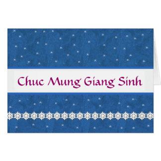 Tarjeta Copos de nieve de Chuc Mung Giang Sinh del