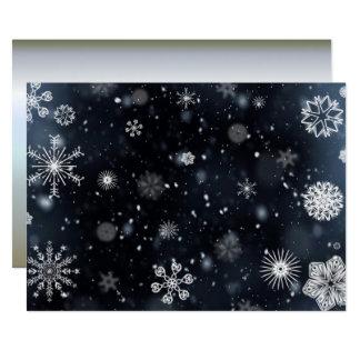 Tarjeta Copos de nieve perfectos para el día de fiesta del