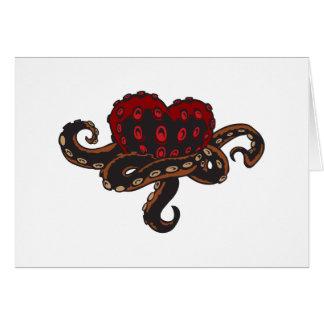Tarjeta Corazón con tentáculos