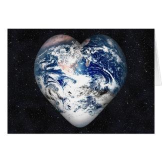 Tarjeta Corazón de la tierra (fondo del universo)