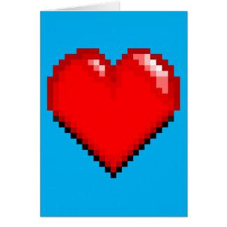 Tarjeta Corazón de la vida del videojuego - corazón del