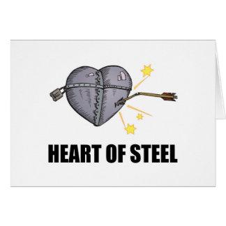 Tarjeta corazón del acero