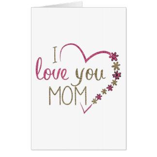 Tarjeta Corazón del día de madres de la mamá del amor