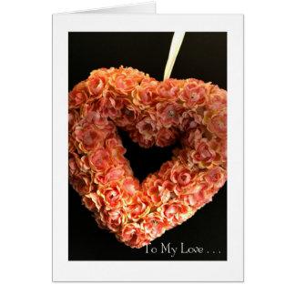 Tarjeta Corazón del el día de San Valentín: Rosa en #4