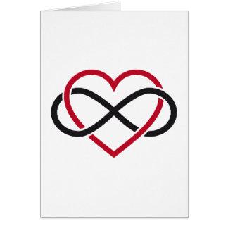 Tarjeta Corazón del infinito, amor interminable