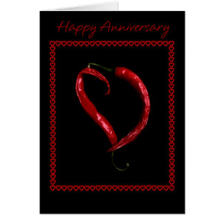 Tarjeta Corazón feliz de la pimienta de chile del