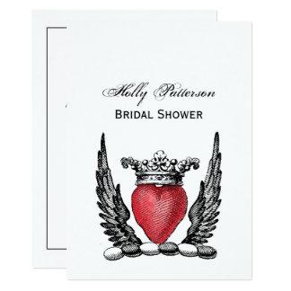 Tarjeta Corazón heráldico con el escudo del escudo de