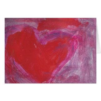 Tarjeta Corazón hermoso