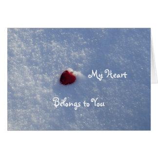 Tarjeta Corazón-Novio rojo