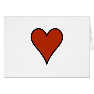 Tarjeta Corazón rojo