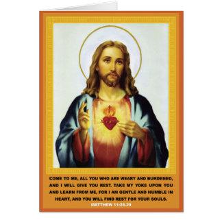 Tarjeta Corazón sagrado