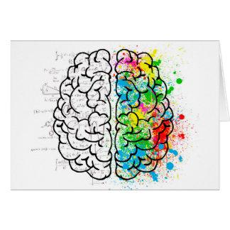 Tarjeta corazones de la idea de la psicología de la mente