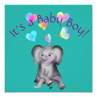 Tarjeta Corazones del elefante por los Happy Juul Company