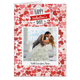 Tarjeta Corazones felices del el día de San Valentín
