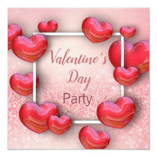 Tarjeta Corazones rojos del el día de San Valentín -