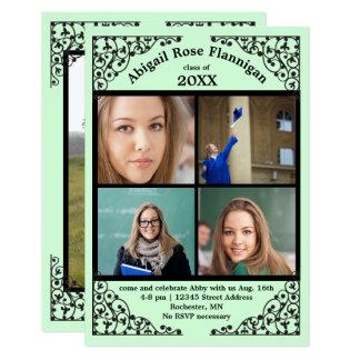 Tarjeta Cordón de la menta del collage de la foto -