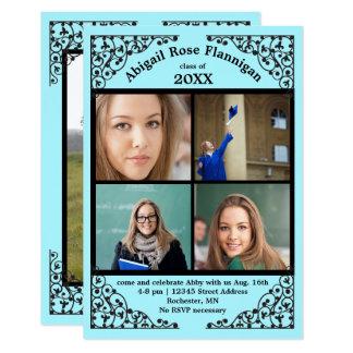 Tarjeta Cordón del trullo del collage de la foto -