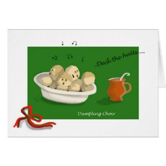 Tarjeta Coro de la bola de masa hervida del navidad