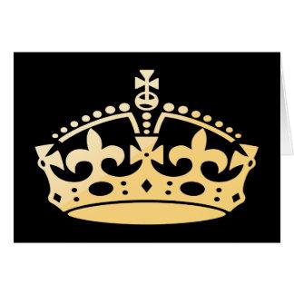 Tarjeta Corona del jubileo de Creamsicle