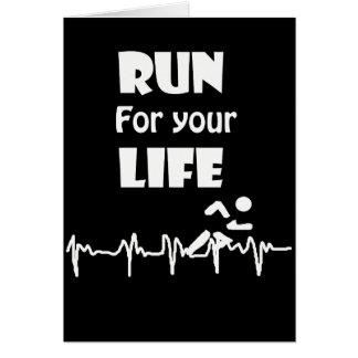 Tarjeta Corra para su diseño corriente del ritmo cardíaco
