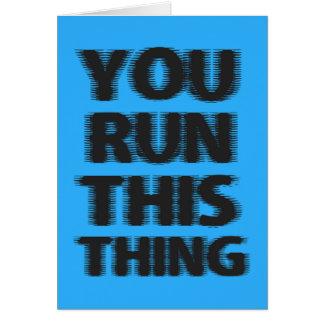 Tarjeta Corredor de maratón de la buena suerte