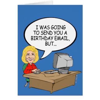 Tarjeta Correos electrónicos del cumpleaños de Hillary -