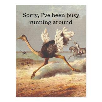 Tarjeta corriente colorida de la disculpa de la postal