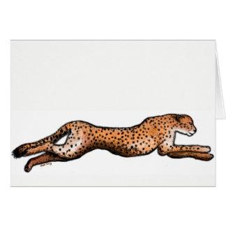 Tarjeta corriente del arte del guepardo