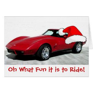 Tarjeta Corvette del rojo de 1979 navidad