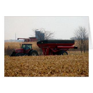 Tarjeta Coseche el maíz