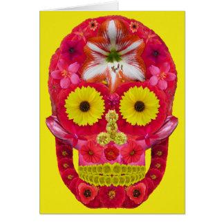 Tarjeta Cráneo 6 de la flor