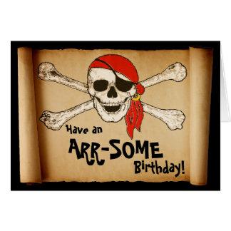 Tarjeta Cráneo adaptable del pirata de ARR-SOME