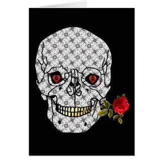 Tarjeta Cráneo del muchacho del amante