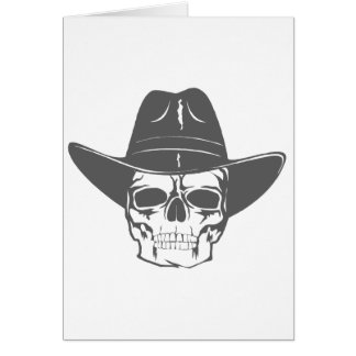 Tarjeta Cráneo del vaquero con el gorra