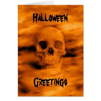 Tarjeta Cráneo divertido de Halloween