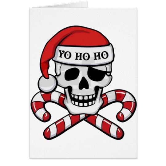 Tarjeta Cráneo en el navidad