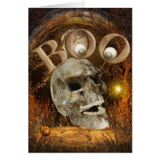 Tarjeta Cráneo Halloween