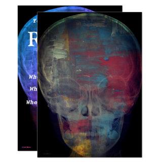 Tarjeta Cráneo humano abstracto