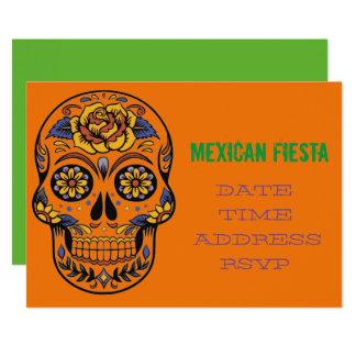 Tarjeta Cráneo temático mexicano de la fiesta del fiesta