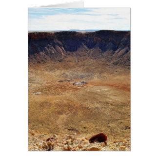 Tarjeta Cráter del meteorito de Barringer