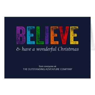 Tarjeta Crea en el navidad corporativo