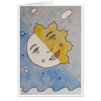 Tarjeta creativa del eclipse de la Sun-Luna