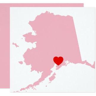 Tarjeta Cree su propio boda de Alaska del color