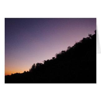 Tarjeta Crepúsculo del parque del barranco de Franklin