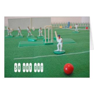 Tarjeta Cricket el 50.o cumpleaños