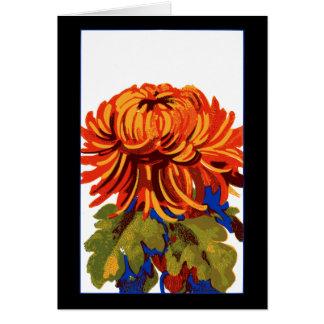 Tarjeta Crisantemo