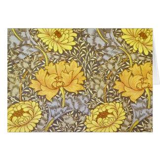 Tarjeta crisantemo de William Morris