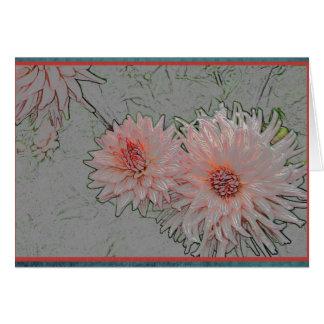 Tarjeta Crisantemo del navidad con las fronteras rojas y