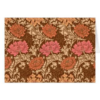 Tarjeta Crisantemos, Brown y moho de William Morris